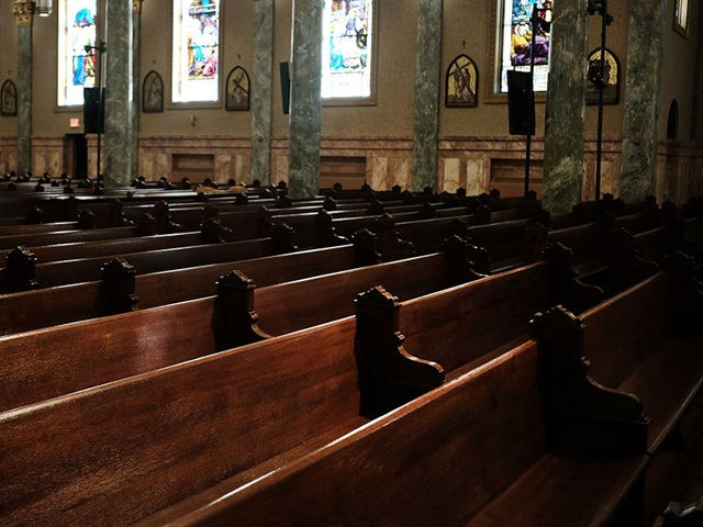NEW YORK, NY - SEPTEMBER 19: Empty pews stand in a Catholic church in Brooklyn on September 19, 2018 in New York City. In a further blow to the Catholic Church in America, four men who were sexually assaulted as children by a teacher at a Roman Catholic church have …
