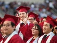 Students earning degrees at Pasadena City College participate in the graduation ceremony, June 14, 2019, in Pasadena, California. - With 45 million borrowers owing $1.5 trillion, the student debt crisis in the United States has exploded in recent years and has become a key electoral issue in the run-up to …