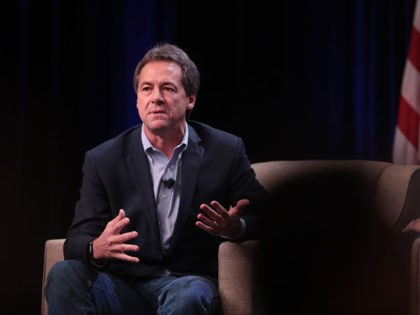 ALTOONA, IOWA - OCTOBER 13: Democratic presidential candidate Montana governor Steve Bullock speaks to guests at the United Food and Commercial Workers' (UFCW) 2020 presidential candidate forum on October 13, 2019 in Altoona, Iowa. With 1.3 million members the UFCW is America's largest private sector union. The 2020 Iowa Democratic …
