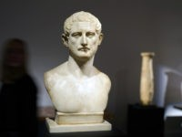 LONDON, ENGLAND - NOVEMBER 29: A Roman marble portrait bust of a man from the reign of Emperor Trajan, early 2nd century A.D., estimated at £300,000-£500,000, goes on view at Sotheby's on November 29, 2019 in London, England. The sale of the ancient sculpture will take place on Tuesday 3rd …