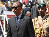 Rwandan President Paul Kagame arrive for the funeral service of former Kenya president, Daniel Arap Moi, in Nairobi, on February 11, 2020. - Moi, whose 24-year rule saw Kenya become a one-party state where critical voices were ruthlessly crushed, died on February 4, 2020, aged 95, prompting thousands of Kenyans …