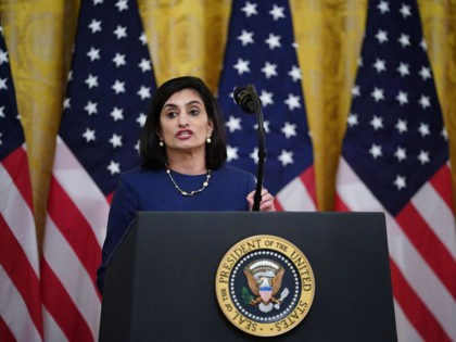 Administrator of the Centers for Medicare and Medicaid Services Seema Verma speaks on protecting Americas seniors from the COVID-19 pandemic in the East Room of the White House in Washington, DC on April 30, 2020. (Photo by MANDEL NGAN / AFP) (Photo by MANDEL NGAN/AFP via Getty Images)
