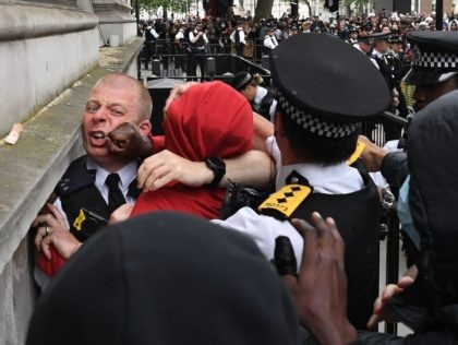 Pictures: London Black Lives Matter Protest Turns Violent, Police Attacked Outside Prime Minister's Office