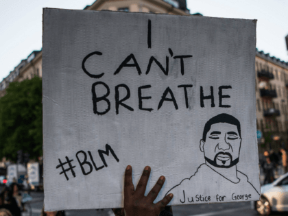 Protestors take part in a Black Lives Matter demonstration in Stockholm, Sweden, on June 3, 2020, in solidarity with protests raging across the United States over the death of George Floyd. - Former Minneapolis police officer Derek Chauvin, who kneeled on the neck of George Floyd who later died, will …
