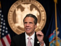 "NEW YORK, NY - JUNE 12: New York Gov. Andrew Cuomo speaks during the daily media briefing at the Office of the Governor of the State of New York on June 12, 2020 in New York City. Gov. Andrew Cuomo signed the ""Say Their Name"" reform legislation, an agenda that …"