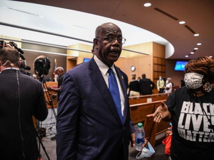 Fulton County District Attorney Paul Howard leaves after announcing 11 charges against former Atlanta Police Officer Garrett Rolfe on June 17, 2020, in Atlanta, Georgia. - Rolfe will be charged with murder for shooting Rayshard Brook, 27, in the back, Howard, announced, in the latest case to spark anger over …
