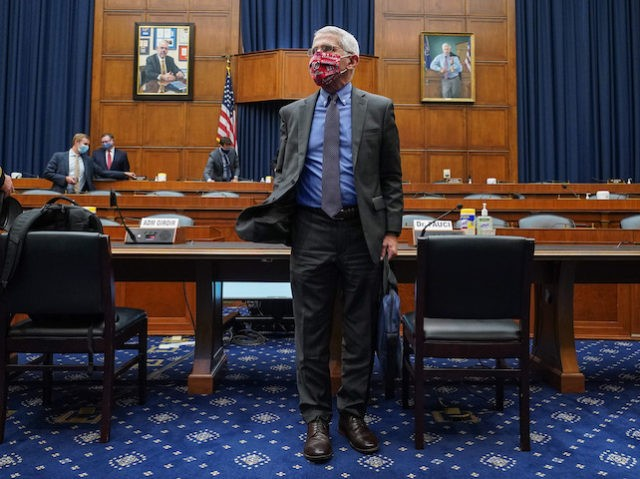 WASHINGTON, DC - JUNE 23: Dr. Anthony Fauci, director of the National Institute of Allergy and Infectious Diseases, leaves after testifying at a hearing of the U.S. House Committee on Energy and Commerce on Capitol Hill on June 23, 2020 in Washington, DC. The committee is investigating the Trump administration's …