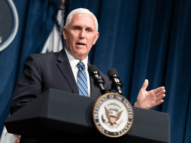 Vice President Mike Pence speaks after leading a White House Coronavirus Task Force briefing at the Department of Health and Human Services on June 26, 2020 in Washington, DC. Cases of coronavirus disease (COVID-19) are rising in southern and western states forcing businesses to remain closed. (Photo by Joshua Roberts/Getty …