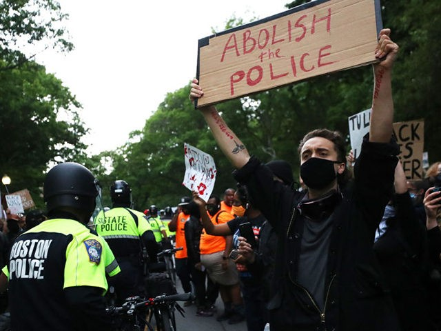BOSTON, MASSACHUSETTS - JUNE 02: Demonstrators attend a protest organized by Black Lives Matter in response to the death of George Floyd, an African American, at the hands of Minneapolis, Minnesota police, on June 02, 2020 in Boston, Massachusetts. Protests calling for an end to police brutality have spread across …