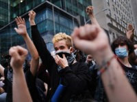 NEW YORK, NEW YORK - JUNE 02: Hundreds of demonstrators again take to the streets of Manhattan to show anger at the police killing of George Floyd on June 02, 2020 in New York City. The Minneapolis Police officer ,Derek Chauvin, who was filmed kneeling on George Floyd's neck before …