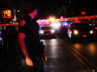 NEW YORK, NEW YORK - JUNE 03: Police gather at the scene where two New York City police officers were shot in a confrontation late Wednesday evening in Brooklyn on June 03, 2020 in New York City. The officers were hit by gunfire in the Flatbush section of Brooklyn just …