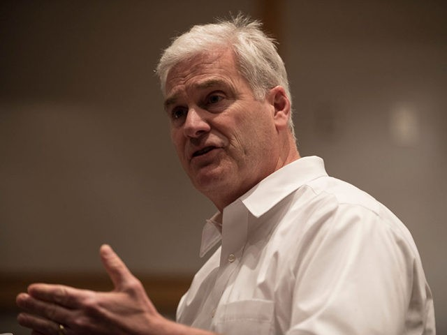 SARTELL, MN - FEBRUARY 22: Rep. Tom Emmer (R-MN) responds to a question at a town hall meeting on February 22, 2017 in Sartell, Minnesota. Emmer was asked questions ranging from health care, immigration, to education policy.(Photo by Stephen Maturen/Getty Images)