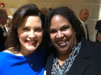 Gov. Gretchen Whitmer and Michigan Democrat Chair Lavora Barnes