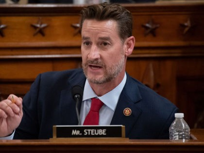 WASHINGTON, DC – DECEMBER 4: Rep. Greg Steube (R-FL) speaks during testimony by constitutional scholars before the House Judiciary Committee in the Longworth House Office Building on Capitol Hill December 4, 2019 in Washington, DC. This is the first hearing held by the Judiciary Committee in the impeachment inquiry against …