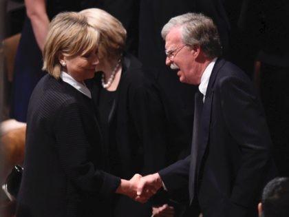 Hillary Clinton and John Bolton (Saul Loeb / AFP / Getty)