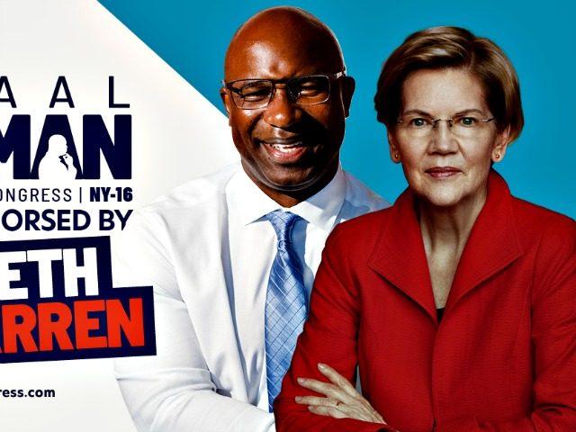 Jamaaal Bowman and Elizabeth Warren