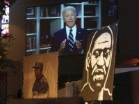 Joe Biden at George Floyd funeral (David J. Phillip / Pool/ Getty)