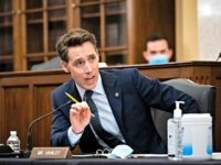 WASHINGTON, DC - JUNE 10: U.S. Sen. Josh Hawley (R-MO) speaks at a Senate Small Business and Entrepreneurship Committee hearing on June 10, 2020 in Washington, DC. The committee is examining the implementation of the CARES Act, which has handed out billions of dollars of government-backed forgivable loans to small-business …