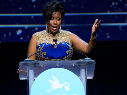 WASHINGTON, DC - JANUARY 23: Louisiana State Representative and Senator-Elect Katrina Jackson speaks at Stork Ball 2020 at the Ronald Reagan Building on January 23, 2020 in Washington, DC. (Photo by Leigh Vogel/Getty Images for Save The Storks)