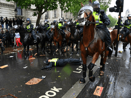 PICS: Clashes Erupt at BLM London Protest, Mounted Police Unhorsed