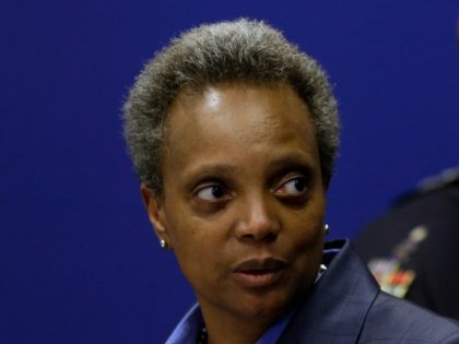 CHICAGO, IL - NOVEMBER 07: Chicago Mayor Lori Lightfoot speaks about Chicago Police Department Superintendent Eddie Johnson announcing his retirement during a news conference with at the Chicago Police Department's headquarters November 7, 2019 in Chicago, Illinois. Johnson who will retire at the end of the year was promoted to …
