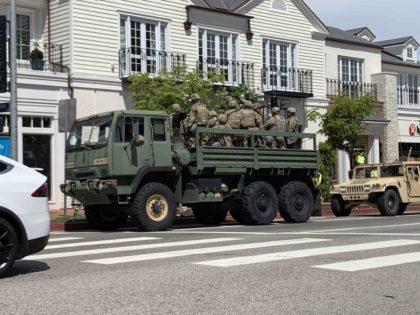 National Guard in Los Angeles (Joel Pollak / Breitbart News)