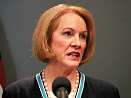 SEATTLE, WASHINGTON - MARCH 16: Seattle Mayor Jenny Durkan talks at a press conference about the coronavirus outbreak March 16, 2020 in Seattle, Washington. Gov. Jay Inslee ordered all bars, restaurants, entertainment and recreation facilities to temporarily close to fight the spread of COVID-19 in the state with by far …