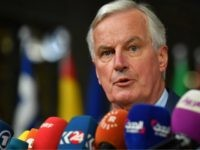 EU Chief Brexit negotiator Michel Barnier answers to journalists upon her arrival at the European Council in Brussels on October 17, 2018. - British Prime Minister Theresa May is due to address a summit of European Union leaders in which Brexit negotiations are expected to be top of the agenda. …
