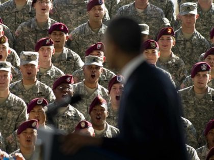 Obama at Fort Bragg (Jim Watson / AFP / Getty)