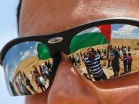 Palestinian flag Israeli sunglasses (Hazem Bader / AFP / Getty)