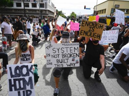 Peaceful protest Los Angeles (Robyn Beck / AFP / Getty)