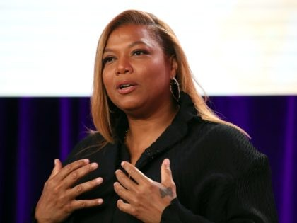 "PASADENA, CALIFORNIA - JANUARY 18: Queen Latifa of ""The Clark Sisters: First Ladies of Gospel"" speaks during the Lifetime segment of the 2020 Winter TCA Tour at The Langham Huntington, Pasadena on January 18, 2020 in Pasadena, California. (Photo by David Livingston/Getty Images)"