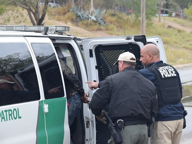 Border Patrol agents arrest an illegal alien who crossed the border from Mexico into Rio Bravo, Texas. File (Photo: Bob Price/Breitbart Texas)