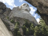 George Washington's Head Depicted On Mount Rushmore