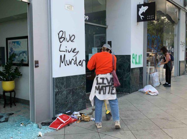 Santa Monica Riots 7 (Joel Pollak / Breitbart News)