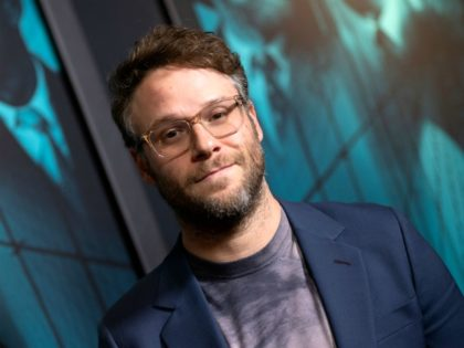 """US-Canadian actor Seth Rogen attends the special screening of Warner Bros Pictures' """"Motherless Brooklyn"""" in Los Angeles, on October 28, 2019. (Photo by VALERIE MACON / AFP) (Photo by VALERIE MACON/AFP via Getty Images)"""