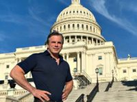 Tom Fitton in front of Capitol