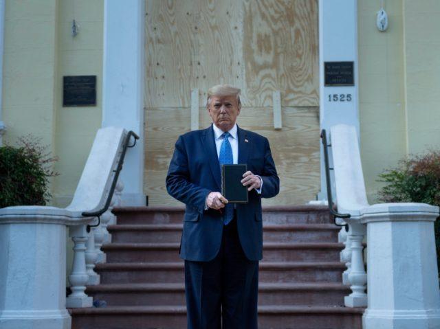 Trump St. John Bible (Brendan Smialowski / AFP / Getty)