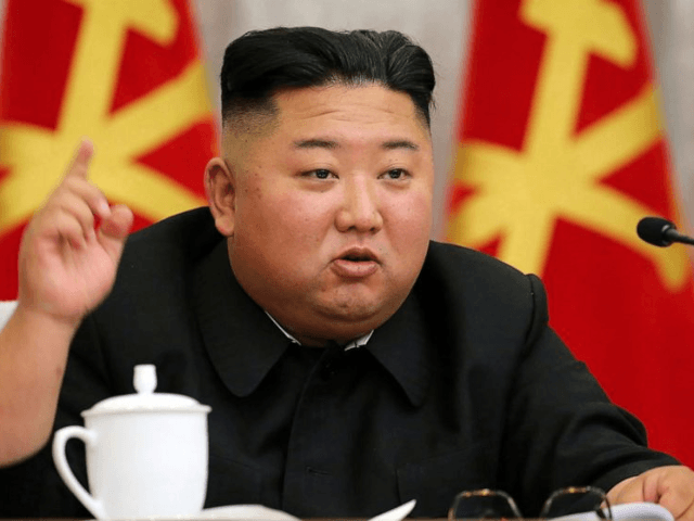 In this undated file photo provided on Sunday, May 24, 2020, by the North Korean government, North Korean leader Kim Jong Un speaks during a meeting of the Seventh Central Military Commission of the Workers' Party of Korea in North Korea. Kim suspended his military's plans to take unspecified retaliatory …