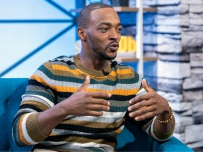 STUDIO CITY, CALIFORNIA - APRIL 24: Actor Anthony Mackie visits 'The IMDb Show' on April 24, 2019 in Studio City, California. This episode of 'The IMDb Show' airs on May 2, 2019. (Photo by Rich Polk/Getty Images for IMDb)