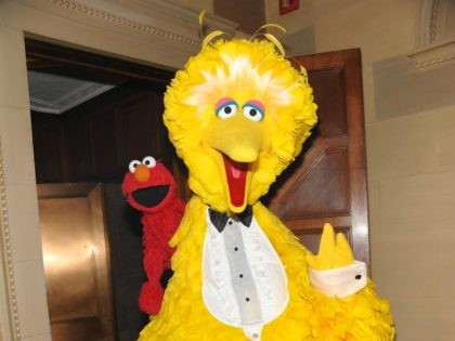 Big Bird and Elmo attend Macy's 150th anniversary celebration at Gotham Hall on Tuesday, Oct. 28, 2008 in New York. (AP Photo/Evan Agostini)