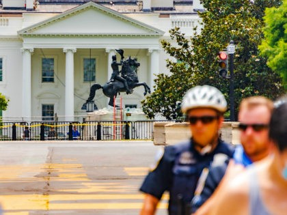 Black Lives Matter Plaza Washington, DC, White House, Andrew Jackson statue
