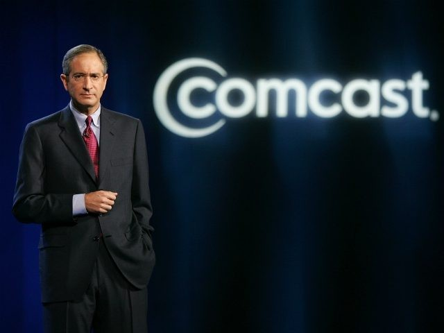 LAS VEGAS - JANUARY 08: Comcast Corp. Chairman and CEO Brian L. Roberts delivers a keynote address at the 2008 International Consumer Electronics Show at the Venetian January 8, 2008 in Las Vegas, Nevada. CES, the world's largest annual consumer technology trade show, runs through January 10 and features 2,700 …