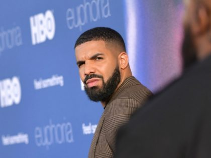 """Executive Producer US rapper Drake attends the Los Angeles premiere of the new HBO series """"Euphoria"""" at the Cinerama Dome Theatre in Hollywood on June 4, 2019. (Photo by Chris Delmas / AFP) (Photo credit should read CHRIS DELMAS/AFP via Getty Images)"""