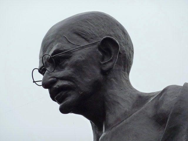 Gandhi statue in Leicester, England