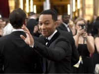 John Legend arrives at the Oscars on Sunday, Feb. 22, 2015, at the Dolby Theatre in Los Angeles. (Photo by Chris Pizzello/Invision/AP)