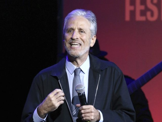Jon Stewart performs at the 13th annual Stand Up For Heroes benefit concert in support of the Bob Woodruff Foundation at the Hulu Theater at Madison Square Garden on Monday, Nov. 4, 2019, in New York. (Photo by Greg Allen/Invision/AP)
