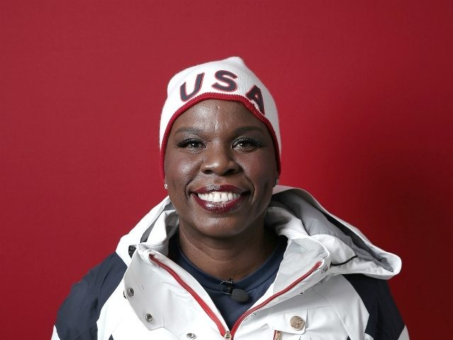 GANGNEUNG, SOUTH KOREA - FEBRUARY 19: (BROADCAST-OUT) Comedian Leslie Jones poses for a portrait on the Today Show Set on February 19, 2018 in Gangneung, South Korea. (Photo by Marianna Massey/Getty Images)