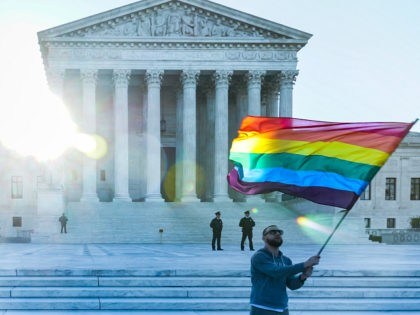 LGBT pride flag Supreme Court