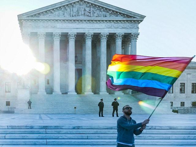 LGBT pride flag Supreme Court